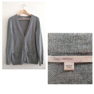 Gap Light Gray Wool Blend Cardigan